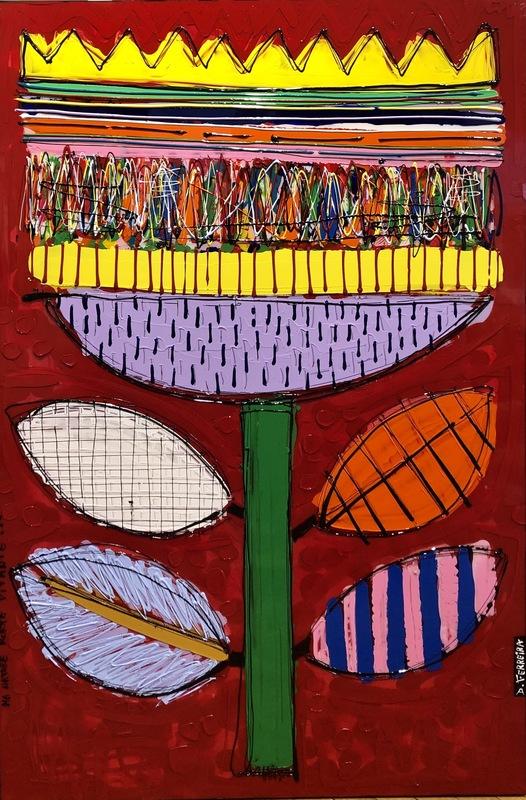 David FERREIRA - Painting - Flower