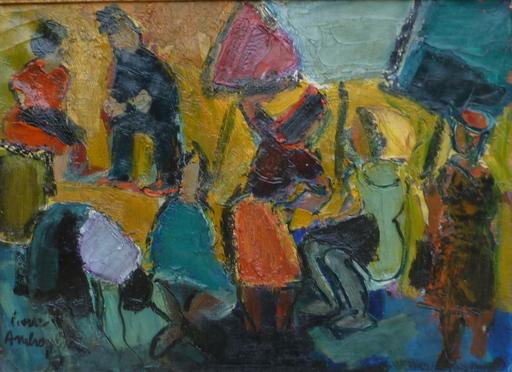 Pierre AMBROGIANI - Painting - les Lavandières
