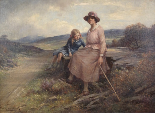 William Kay BLACKLOCK - Pittura - The Top of the Hill