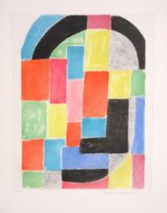 Sonia DELAUNAY-TERK, Composition with Black Arc