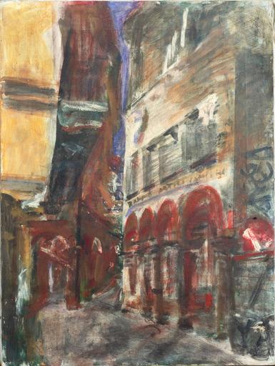 Guido TALLONE - Pintura - Via Pessina che dorme.