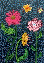草間彌生 - 版画 - Flowers