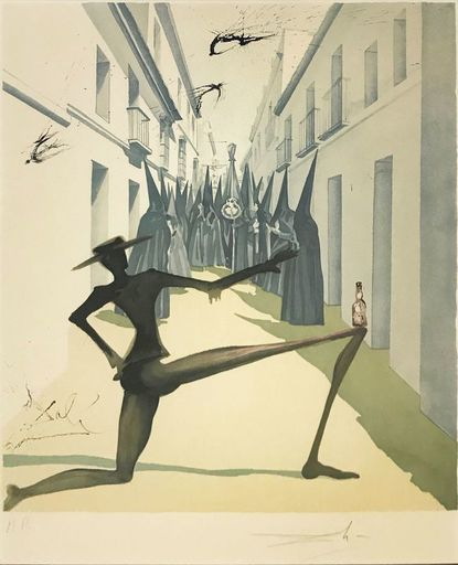 Salvador DALI - Druckgrafik-Multiple - The Bird Has Flown