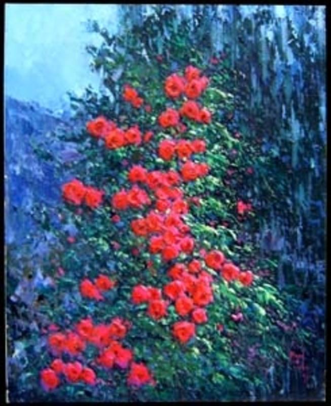 Miguel PEIDRO - Painting - Rosas, rosas