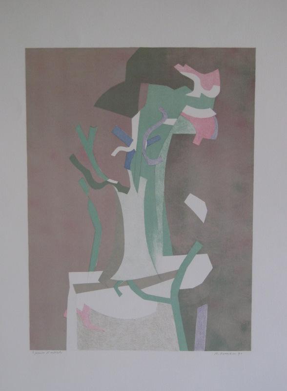 André BEAUDIN - Print-Multiple - LITHOGRAPHIE 1970 SIGNÉE CRAYON EA HANDSIGNED EA LITHOGRAPH