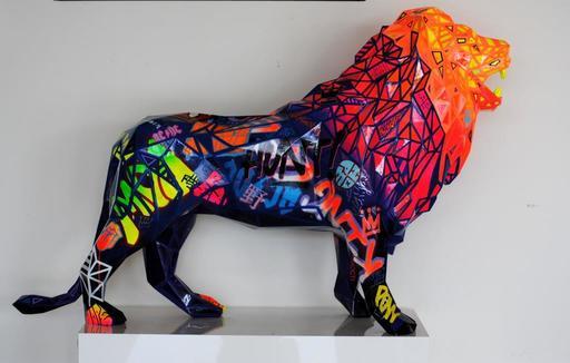 Richard ORLINSKI - Sculpture-Volume - LION RESIN TAG