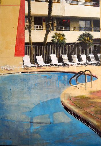 Ayline OLUKMAN - Gemälde - Miracle Poolside