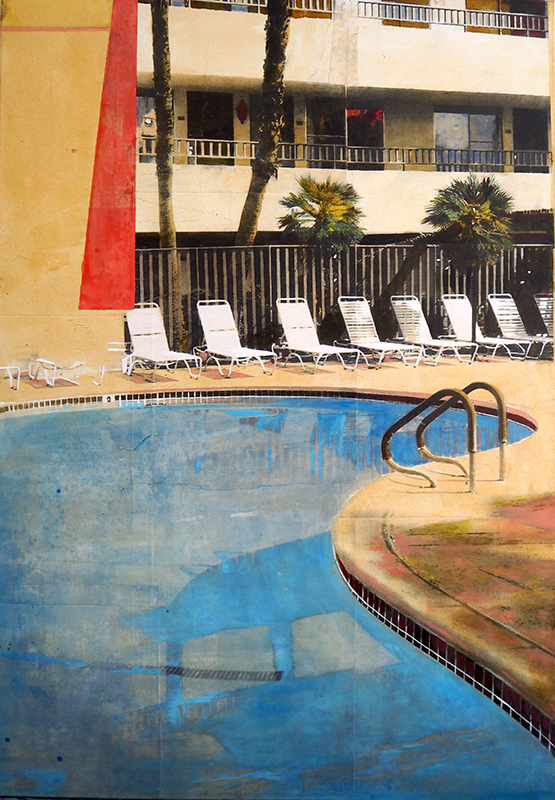Ayline OLUKMAN - Painting - Miracle Poolside