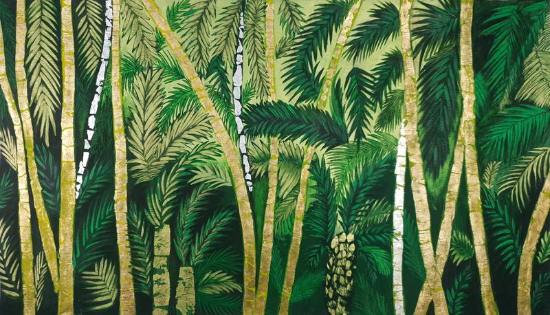 Corine LESCOP - Peinture - Palmeraie