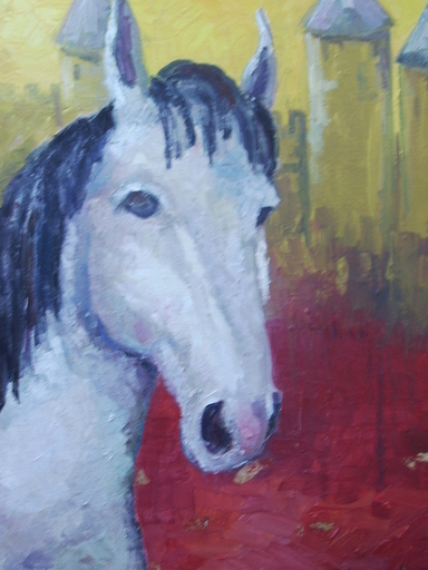 Serge SIEVIC - Peinture - CHEVAL DES TOURS