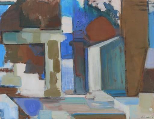 Horst DE MARÉES - Pintura - Abstrakte Waldstudie