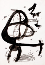 Joan MIRO - Dibujo Acuarela - Untitled