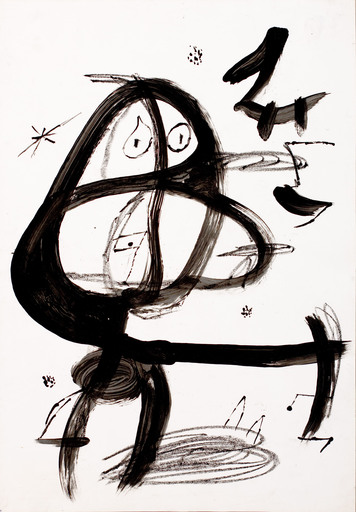 Joan MIRO - Zeichnung Aquarell - Untitled