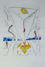 Salvador DALI - Print-Multiple - Conquest of Cosmos Philosopher Crushed by The Cosmos