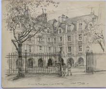 Andor SZÉKELY VON DOBA - Drawing-Watercolor - LOGIS ROMANTIQUES 4 : la Maison de Théophile Gautier et cell