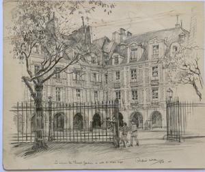 Andor SZÉKELY VON DOBA - Dibujo Acuarela - LOGIS ROMANTIQUES 4 : la Maison de Théophile Gautier et cell