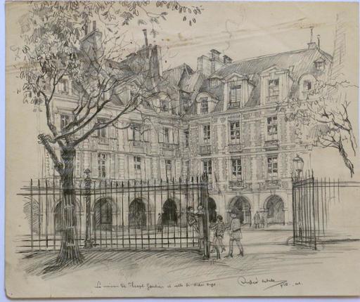 Andor SZÉKELY VON DOBA - 水彩作品 - LOGIS ROMANTIQUES 4 : la Maison de Théophile Gautier et cell