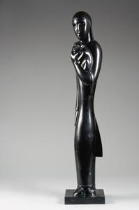 Jean LAMBERT-RUCKI, Femme au chat