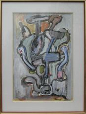 Jacques DOUCET - Peinture - Abstract Composition