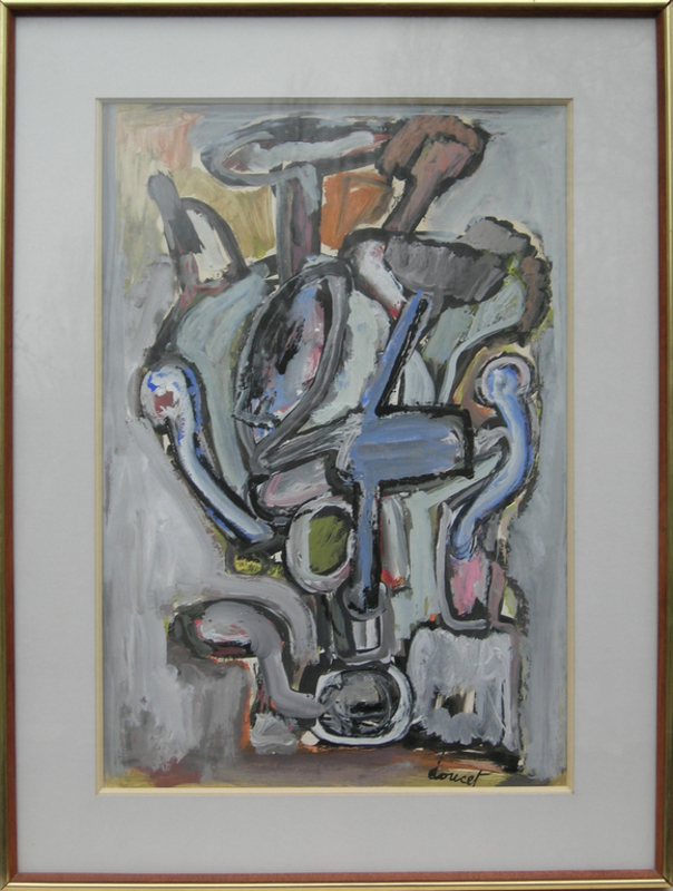 Jacques DOUCET - Painting - Abstract Composition