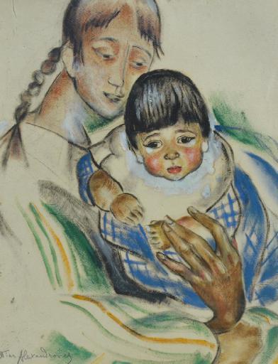 Nina ALEXANDROWICZ - Drawing-Watercolor - portrait of Zinaida Serebriakoff