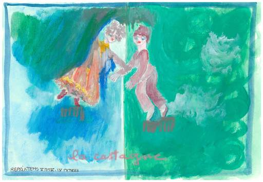Reine BUD-PRINTEMS - Zeichnung Aquarell - LA CASTAGNE