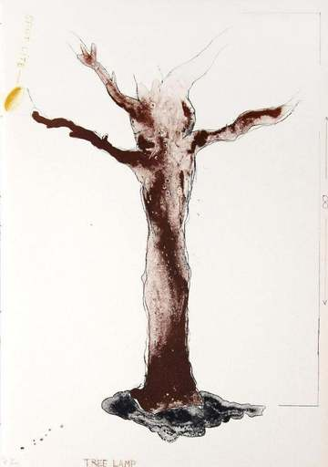Jim DINE - Stampa-Multiplo - Tree Lamp