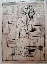 Jankel ADLER - Dibujo Acuarela - Figure
