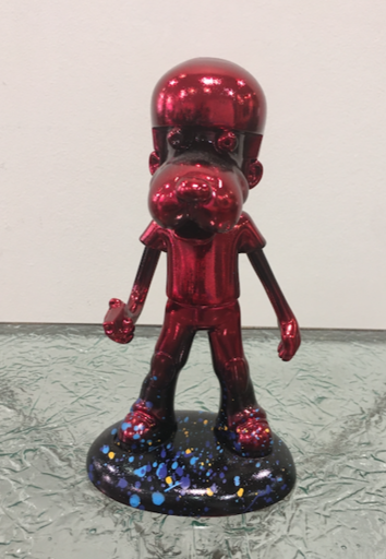 Michel SOUBEYRAND - Escultura - Boy dog rouge