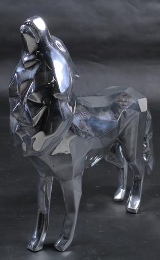 Richard ORLINSKI - Sculpture-Volume - Loup hurlant aluminium