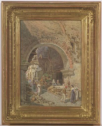 Franz ALT - 水彩作品 - Pescaria in Rome, Watercolor