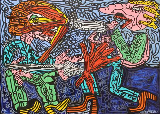 Robert COMBAS - Peinture - Le duel
