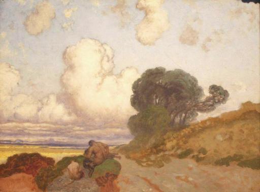 Edoardo DALBONO - Gemälde - Sulla via di Taranto (studio)