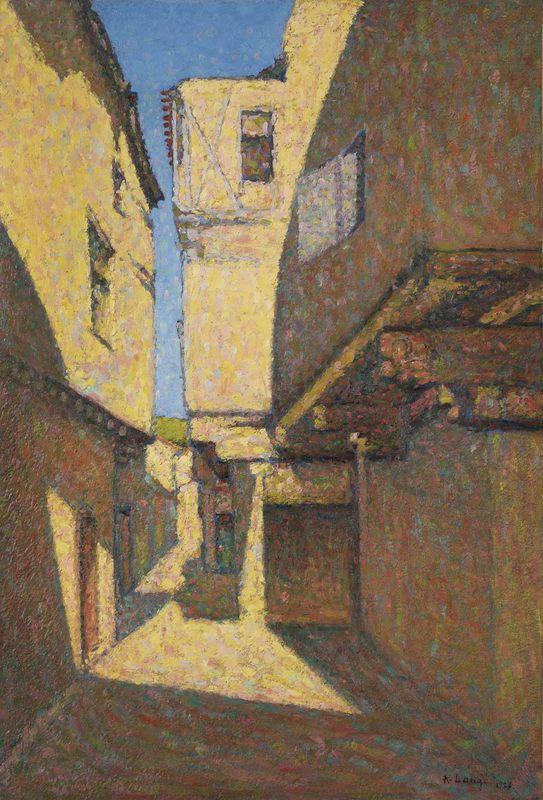 Achille LAUGÉ - Painting - Rue à Alet-les-Bains