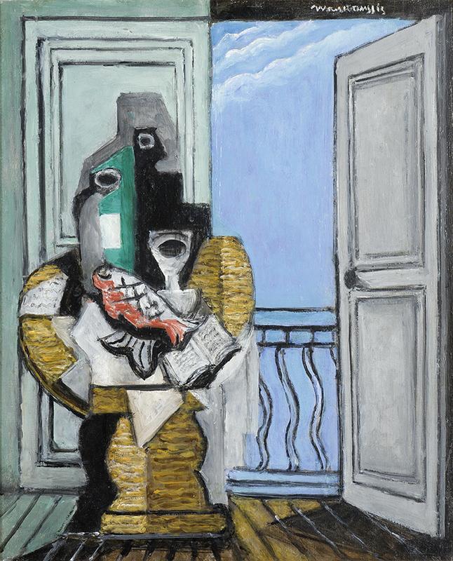 Louis MARCOUSSIS - Painting - Nature morte à la fenêtre