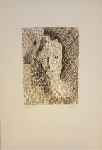 Jacques VILLON - Estampe-Multiple - VISAGE