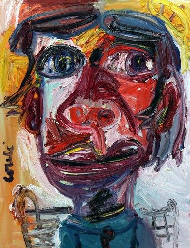 Thierry LOULÉ - 绘画 - Le Jeune blanc-bec