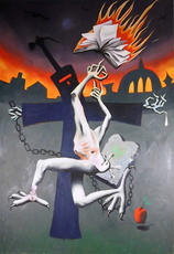 Mark KOSTABI - Painting - Baltic Angst