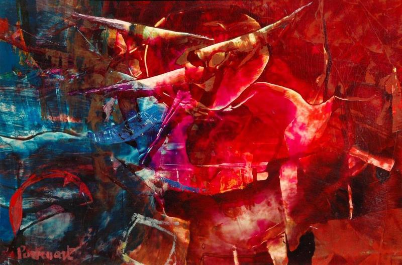 Jeanne PORTENART - Peinture - nuit rouge