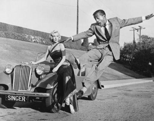 Frank WORTH - Print-Multiple - Sammy Davis Jr leaps for Marilyn