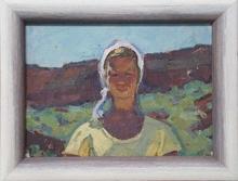 "Vladimir Grigor'evic VLASOV - Pintura - ""Sunny Day"", Oil Painting, 1956"