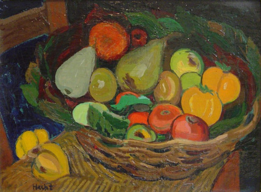 Joseph HECHT - Painting - Still life with fruits