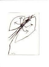 """Achille PERILLI - Dessin-Aquarelle - Disegno per """"mutazione"""" C10"""
