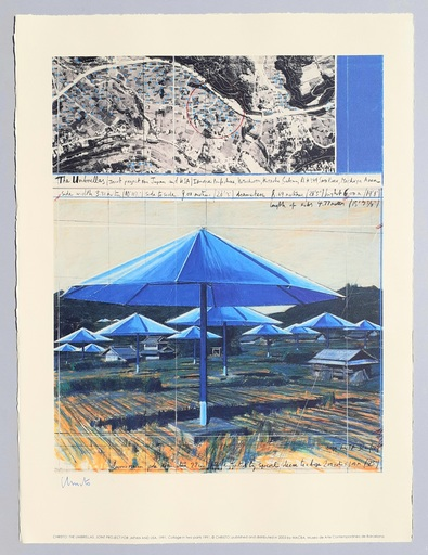 CHRISTO - Druckgrafik-Multiple - The umbrellas, joint project for Japan and USA