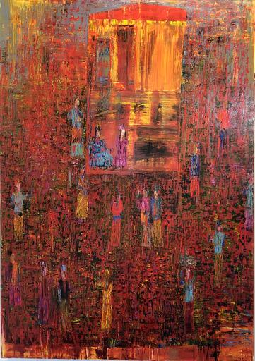 Reza DERAKSHANI - Painting - Sunset Garden Party