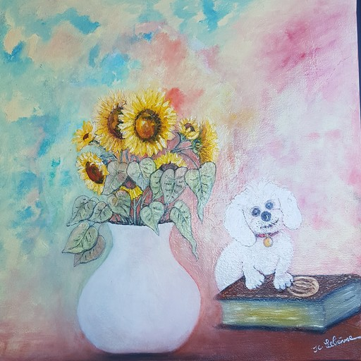 Jean-Claude LELIEVRE - Peinture - soleil
