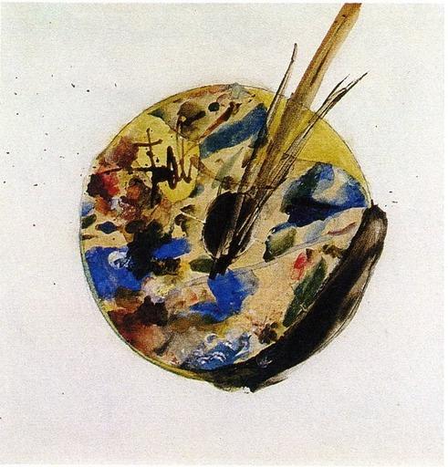 Salvador DALI - Disegno Acquarello - Palette