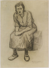 "Herman HEIJENBROCK - Dibujo Acuarela - ""Dutch Woman"", early 20th Century"