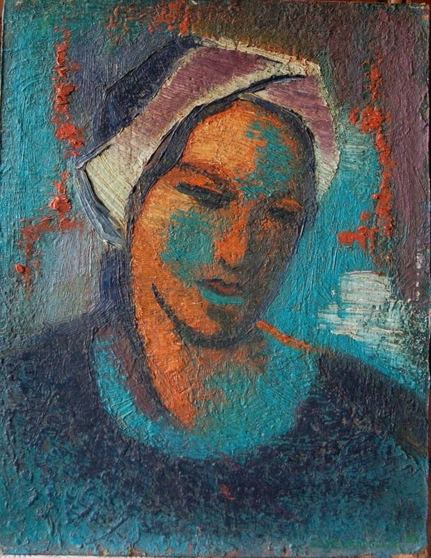 Léopold PLOMTEUX - Painting - portrait fauve