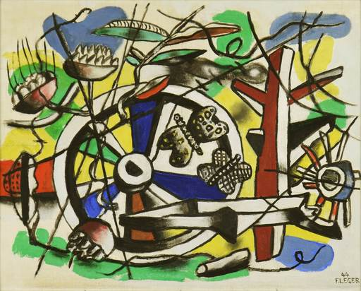 Fernand LÉGER - Painting - Les Papillons dans la Roue